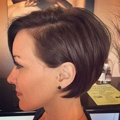 8. Short Bob Hairstyle. I just got my hair cut and colored almost identical to this today. ☺ #BobCutHairstylesShort