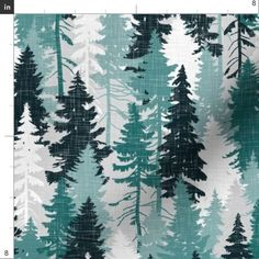 Colorful fabrics digitally printed by Spoonflower - Pine Tree Camouflage Blue Grey White Linen Texture Camo Woodland Tree Pattern Tree Wallpaper, Kitty Wallpaper, Pattern Wallpaper, Winter Wallpaper, Christmas Wallpaper, Pine Tree Art, Pine Tree Tattoo, Evergreen Tree Tattoo, Tree Stencil