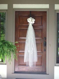 Bridal Shower front door decor