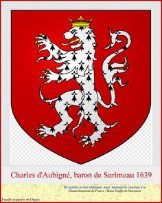 Charles d'Aubigné; Anjou/Charente et mort à Vichy,allier