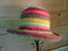 """""""Carnivalle"""" by Millinery Madness.  Felted with Japanese Noro wool"""