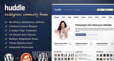 Huddle – WordPress and BuddyPress Community Theme
