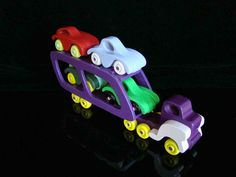 Handmade Wooden Toy Truck and Cars -  Easy Basics Car Carrier