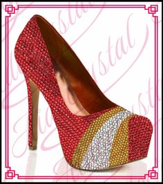 178.00$  Watch now - http://ali09a.worldwells.pw/go.php?t=32780787800 - Aidocrystal Fancy 14cm red crystal handmade high heel best Christmas shoes for ladies free shipping 178.00$