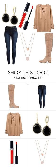 """Untitled #8224"" by ohnadine ❤ liked on Polyvore featuring Sam Edelman, Effy Jewelry, Christian Dior and Michael Kors"