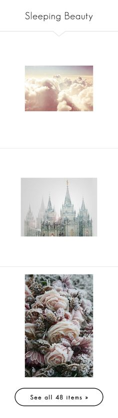 """""""Sleeping Beauty"""" by serib ❤ liked on Polyvore featuring pictures, backgrounds, pics, photos, images, filler, castles, scenery, phrase and quotes"""