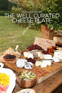 It's always fun at a large party to offer a big cheese buffet, including a variety of hard, soft, and creamy cheese. Here are Colin's tips: