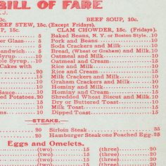 menu collection