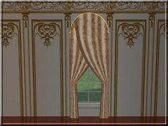 Übergardine für Bogenfenster