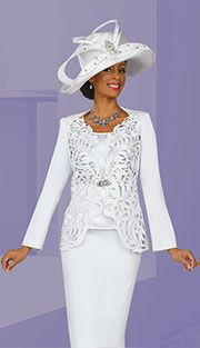 Style BM4705 Colors : White ( 3pc PeachSkin Ben Marc Designer Sunday Suit ) bajosdesignerfashionscom