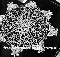Butterfly doily free vintage crochet doilies patterns