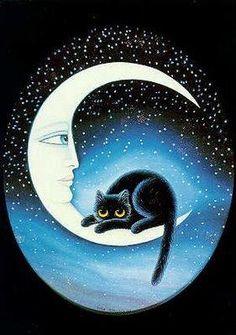 gato en la luna - Buscar con Google