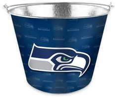 Chill your drinks for the big game in this NFL Metal Ice Bucket. Great for holding ice, bottles, water or anything else you want to take along, the bucket features a team logo and a full tonal wrap of your team's graphics. Super Bowl 52, Super Bowl Sunday, Nfl Seattle, Seattle Seahawks, Steel Bucket, Seahawks Fans, Seahawks Football, Galvanized Buckets, Football Team Logos