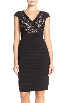 Adrianna Papell Lace & Jersey Sheath Dress (Regular & Petite) available at #Nordstrom