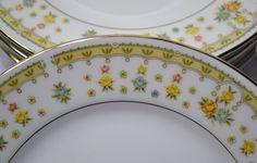 Vintage Garden Bouquet Bread Dessert Plate Set of by PanchosPorch