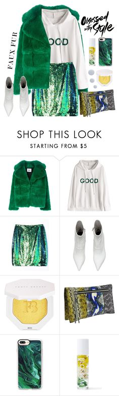 """""""Wow Factor: Faux Fur"""" by beebeely-look ❤ liked on Polyvore featuring MSGM, Puma, Balenciaga, Casetify, Blossom, Deborah Lippmann, hoodie, streetwear, fauxfur and StreetChic"""