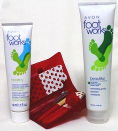 Avon Foot Works Mint Aloe Scrub Max Cracked Heel Cream 5pc Pedicure Kit #Avon