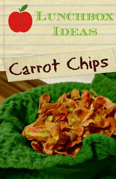 Carrot Chips Recipe is a healthy choice and great lunchbox idea!