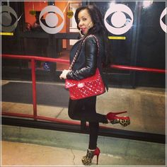 Tameka Tiny Harris red patent Chanel