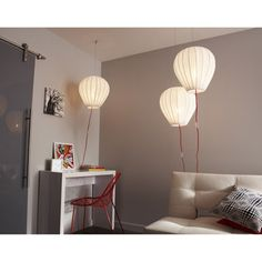 Suspension Balloon, blanc, 60 watts, diam. 38 cm | Leroy Merlin