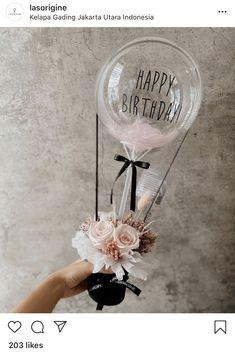 Balloon Flowers, Paper Flowers Diy, Balloon Bouquet, Balloon Basket, Balloon Gift, Flower Bouquet Diy, Boquet, Clear Balloons, Bubble Balloons