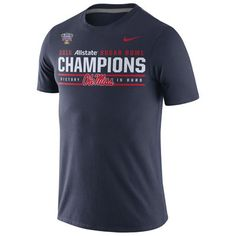 half off 5a3bc 82763 Ole Miss Rebels Nike 2016 Sugar Bowl Champions Locker Room T-Shirt - Navy