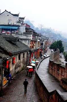 phoenix ancient town, hunan, china   villages and towns in east asia + travel destinations #wanderlust