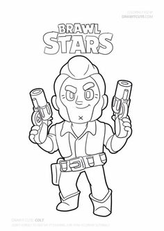 Watch my video to learn how to draw a super simple Colt from Brawl Stars. Always with free coloring page! Star Coloring Pages, Coloring Pages For Boys, Printable Coloring Pages, Coloring Sheets, Free Coloring, Blow Stars, Harry Potter Perler Beads, Sketches Tutorial, Cute Disney Wallpaper