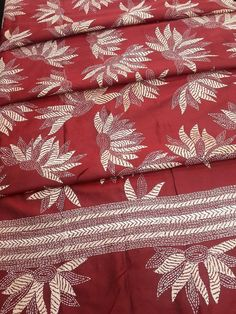 Red Monipuri Nakshi Bed linen and Pillow cases