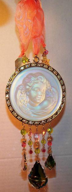 Kirks Folly Dream Angel  Sun Catcher Ornament RARE!  retired rare piece  #KirksFolly