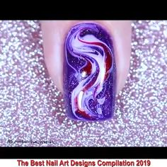 Nail Art Designs Videos, Fingernail Designs, Nail Art Videos, Nail Art At Home, Nail Art Diy, Easy Nail Art, Marble Nails Tutorial, Crazy Nails, Nail Tutorials