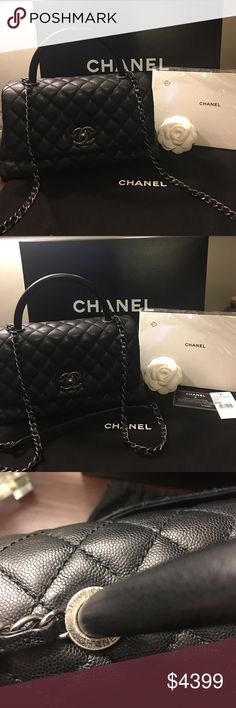 161d828435e6ef Spotted while shopping on Poshmark: Chanel Coco Handle Caviar with  Ruthenium Hardware! #poshmark