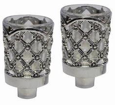 "Candle Holders Silver 3""  #holyland #jewish #israeli #judaica #mitzvah #gift #israel"