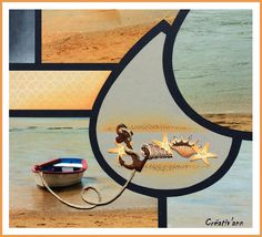 Page Decoration, Photo Memories, Album Photo, Scrapbook Albums, Ocean Beach, Aqua, Photos, Crafty, Mirror