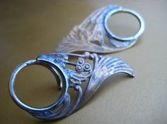 SALE seconds 14g brass art nouveau blades by discomedusa on Etsy, $35.00  I would love to own a pair of these.