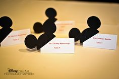 Mickey Mouse makes the perfect escort (card!) #Disney #wedding