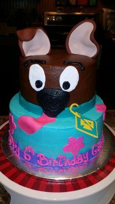 Scooby-Doo two tier cake by Karen's Kaykes