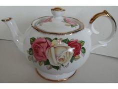 Queen Anne Lady Sylvia Roses Teapot Tea Pot |