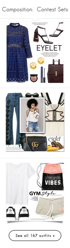 """""""Composition:  Contest Sets"""" by jzanzig on Polyvore featuring Sea, New York, TIBI, Karen Walker, Ruifier, NYX, Estée Lauder, eyelet, contestentry, ifchic and self-portrait"""