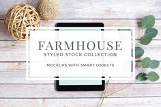 Farmhouse Style Mockups by Pixels & Design on @creativemarket