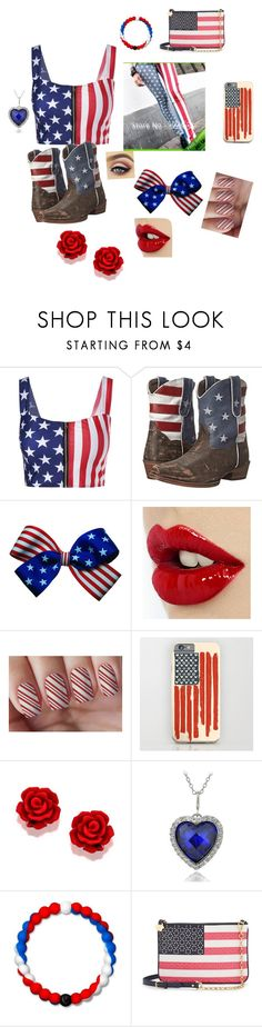 """Miss America"" by arinicole4l ❤ liked on Polyvore featuring Roper, Icz Stonez, Lokai and Draper James"