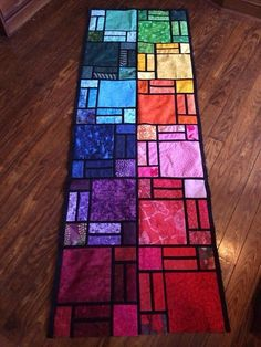 Colorful Creations: Stunning Stained Glass Quilts