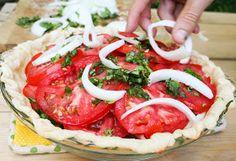 Blooming on Bainbridge: Vidalia Onion Tomato Pie