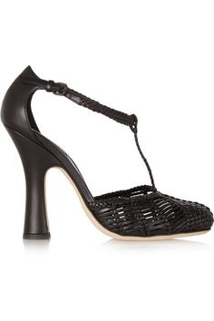 BOTTEGA VENETA  Woven leather Mary Jane pumps $1,913
