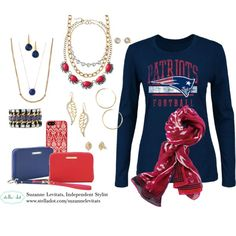 """Stella & Dot Game Day - NE Patriots"" by smtats on Polyvore"