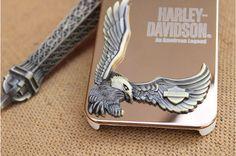 Super Adler Harley Davidson Handyhülle aus Metall mit 3D Relief - elespiel.com