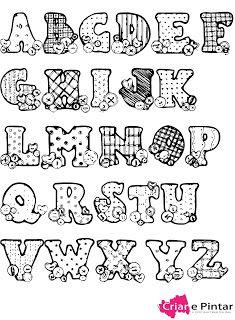 Resultado de imagem para riscos de letras para patchwork Stencil Lettering, Lettering Tutorial, Doodle Lettering, Lettering Styles, Lettering Design, Caligraphy Alphabet, Hand Lettering Alphabet, Alphabet Print, Coloring Book Pages