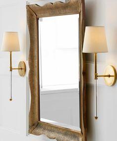 Bathroom Lighting Sconces Visual Comfort Ideas For 2019 Kitchen Lighting Fixtures, Modern Light Fixtures, Patio Lighting, Rustic Lighting, Bedroom Lighting, Sconce Lighting, Bathroom Wallpaper Navy, Visual Comfort Lighting, Wall Sconces