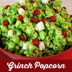 Our sweet and salty and delicious Grinch Popcorn will be popular with kids and adults alike at your How the Grinch Stole Christmas movie night.