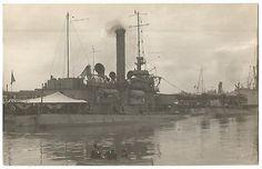 USS Tonopah (BM-8 ex-Nevada) U.S. Navy Monitor & USS D-1 Submarine RPPC c.1910